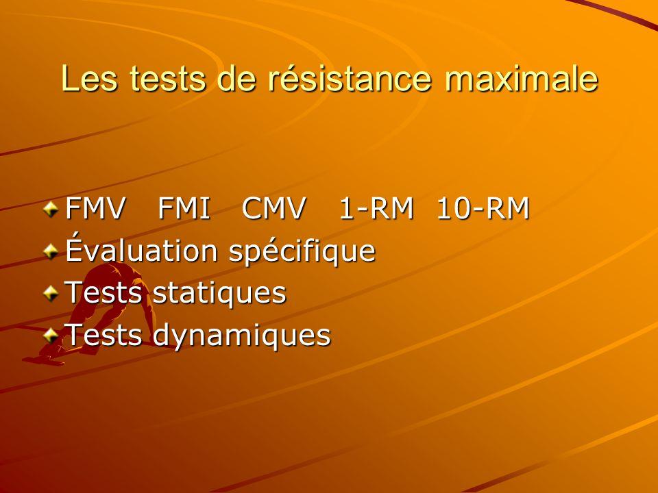 Les tests de résistance maximale
