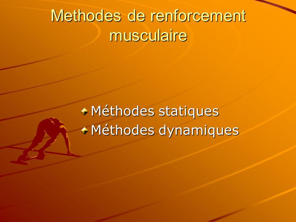 Methodes de renforcement musculaire