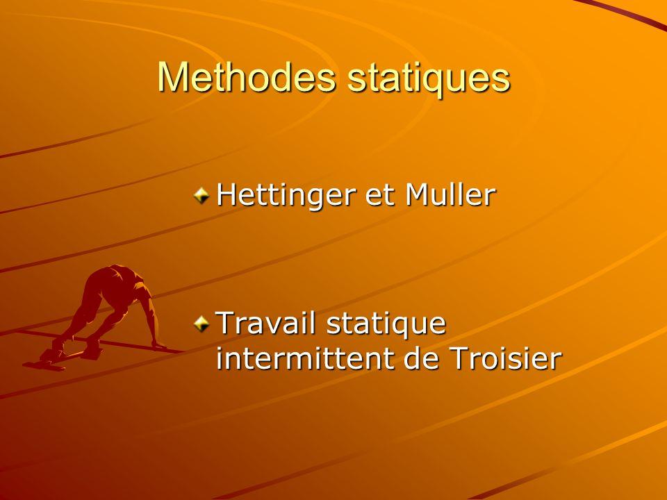 Methodes statiques Hettinger et Muller