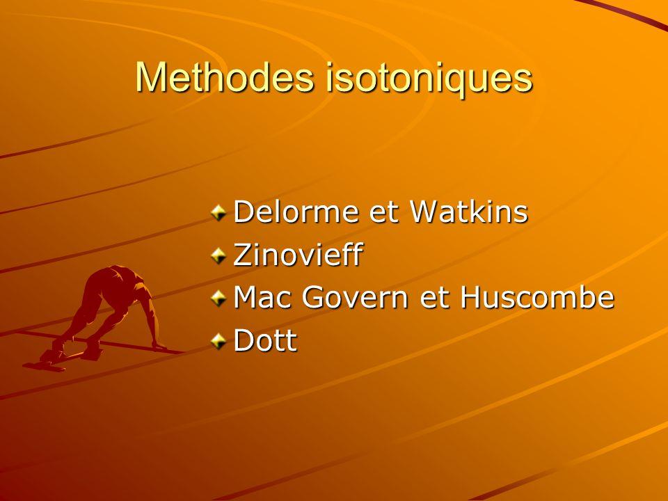 Methodes isotoniques Delorme et Watkins Zinovieff