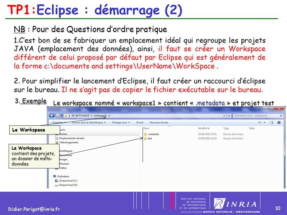 TP1:Eclipse : démarrage (2)