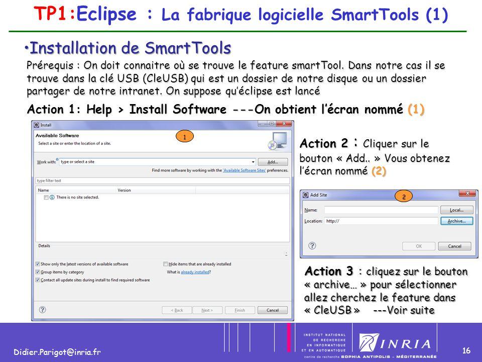 TP1:Eclipse : La fabrique logicielle SmartTools (1)