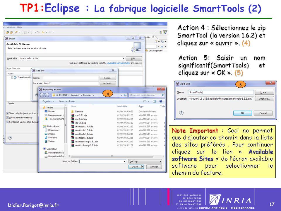 TP1:Eclipse : La fabrique logicielle SmartTools (2)