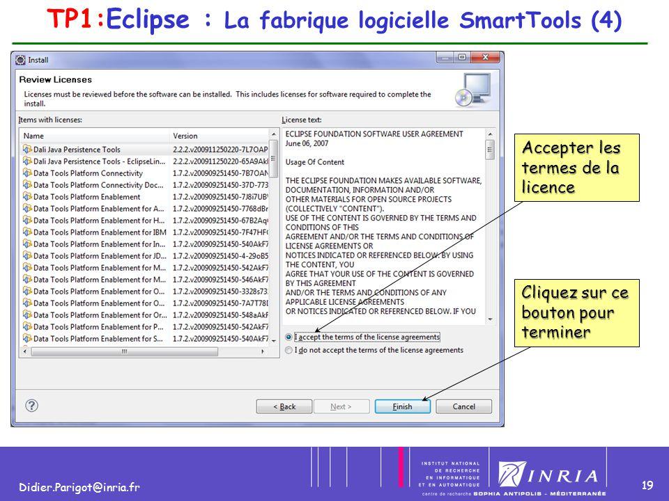 TP1:Eclipse : La fabrique logicielle SmartTools (4)