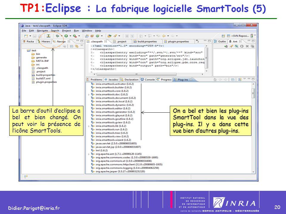TP1:Eclipse : La fabrique logicielle SmartTools (5)