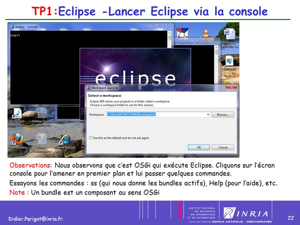 TP1:Eclipse -Lancer Eclipse via la console