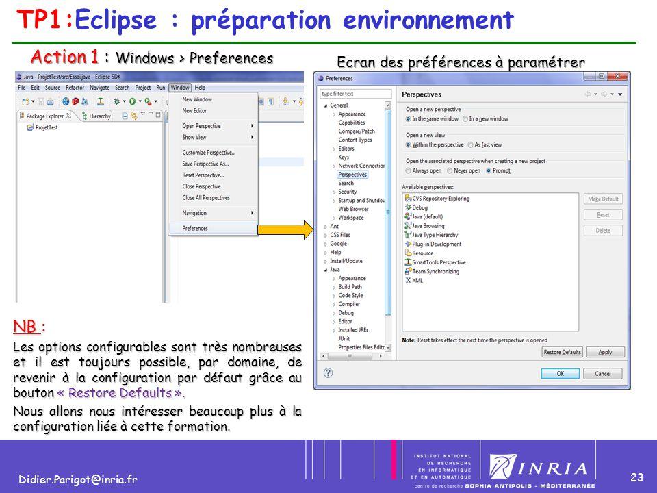 TP1:Eclipse : préparation environnement