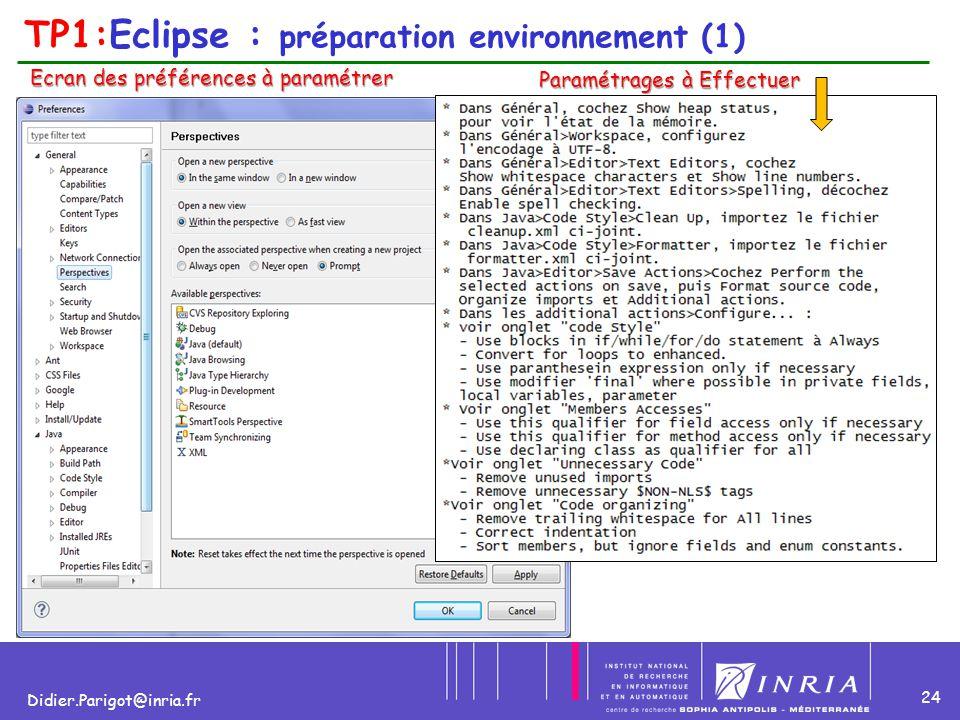 TP1:Eclipse : préparation environnement (1)