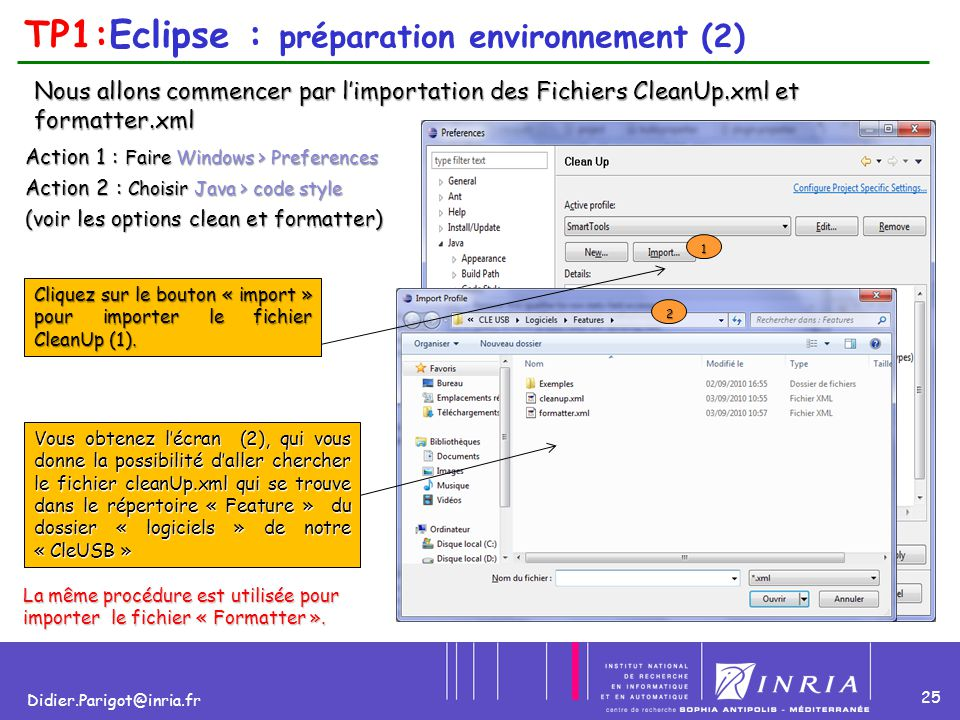 TP1:Eclipse : préparation environnement (2)
