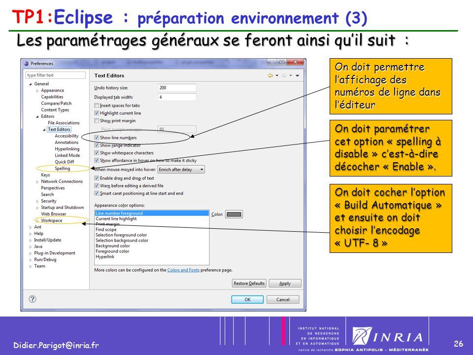 TP1:Eclipse : préparation environnement (3)