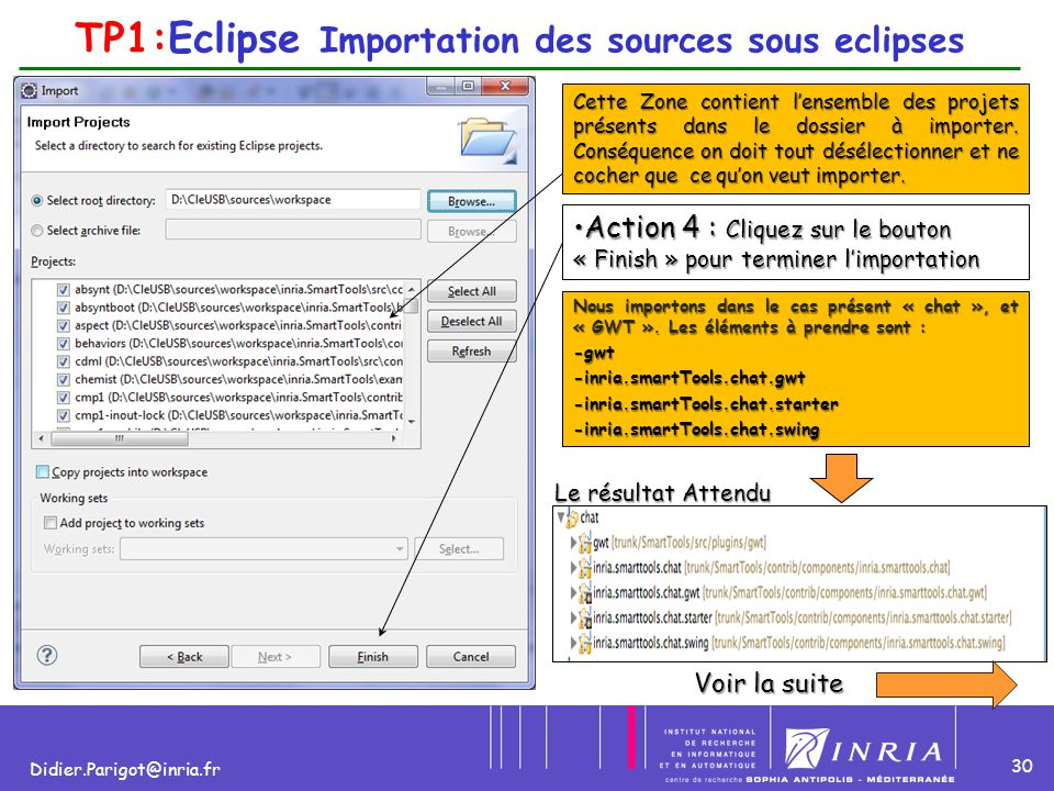 TP1:Eclipse Importation des sources sous eclipses