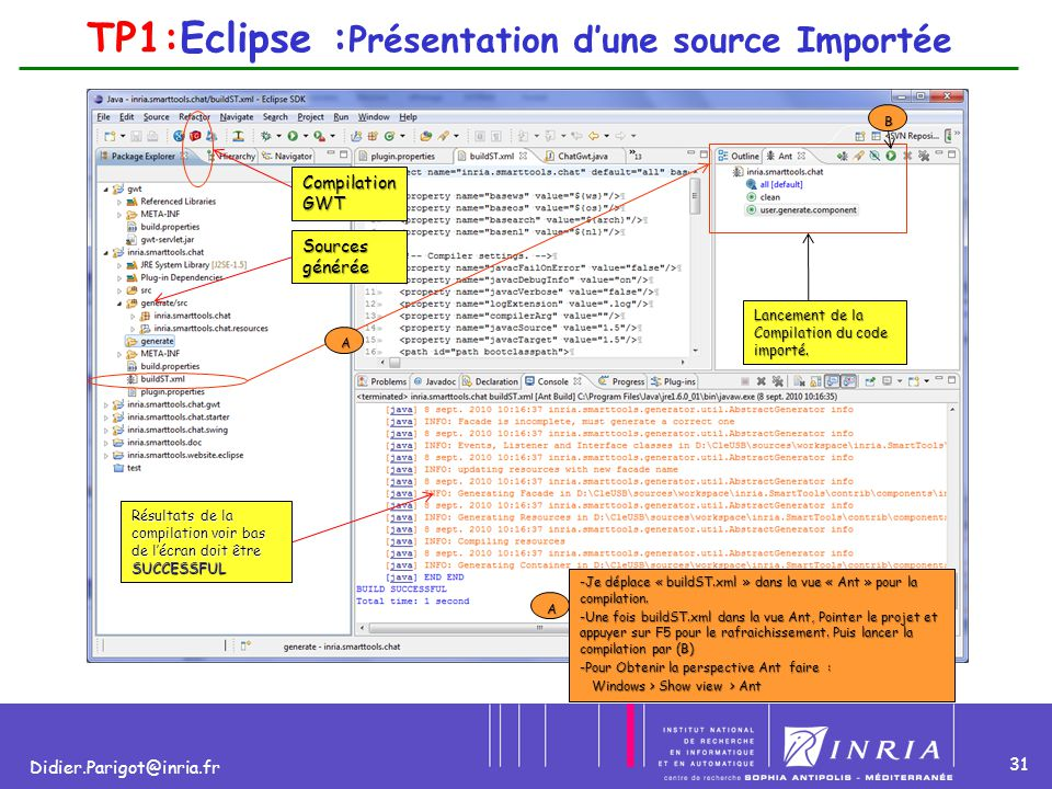 TP1:Eclipse :Présentation d'une source Importée
