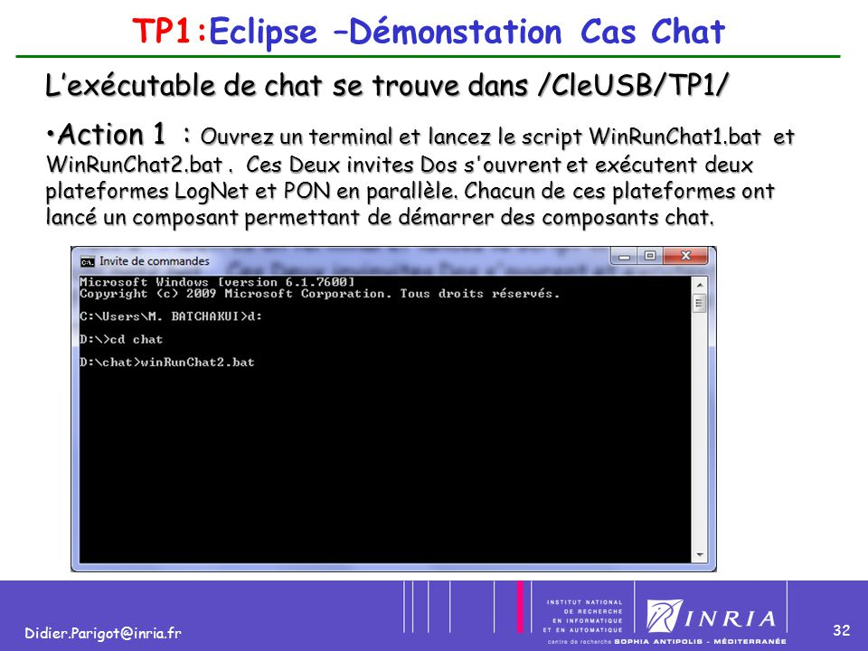 TP1:Eclipse –Démonstation Cas Chat