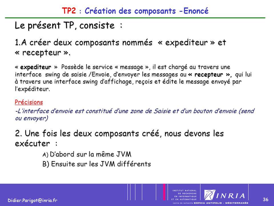 TP2 : Création des composants -Enoncé