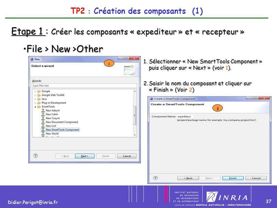 TP2 : Création des composants (1)