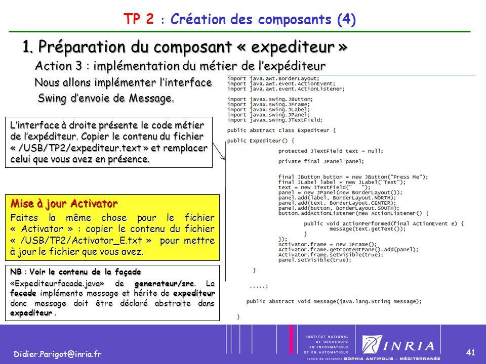 TP 2 : Création des composants (4)