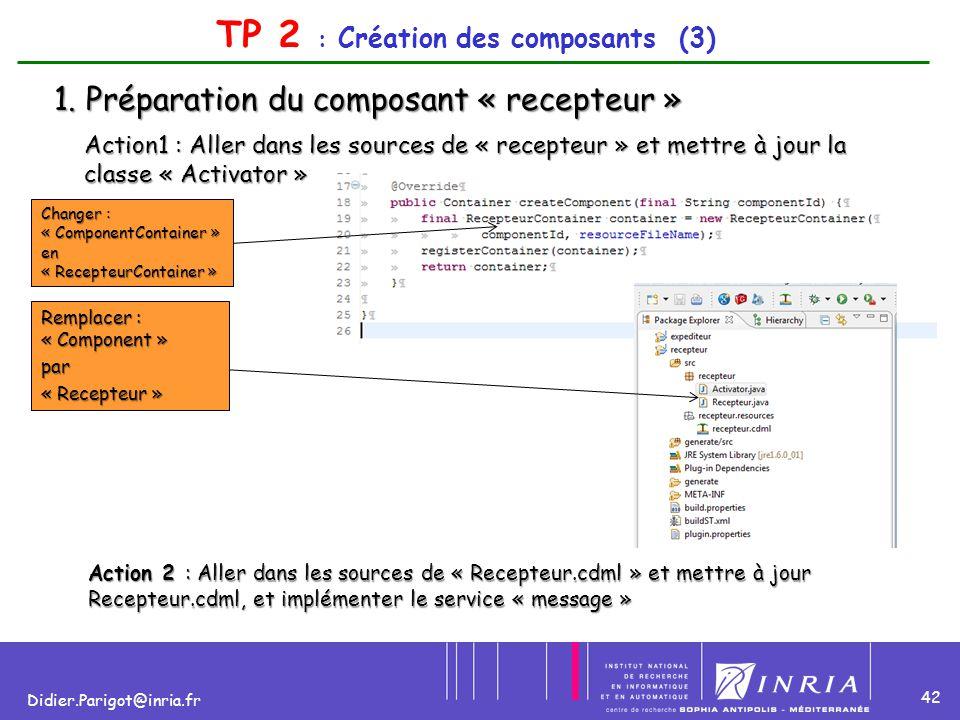 TP 2 : Création des composants (3)