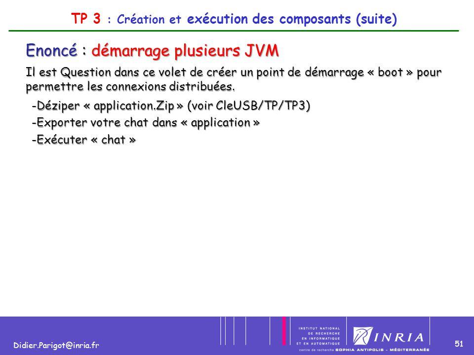 TP 3 : Création et exécution des composants (suite)