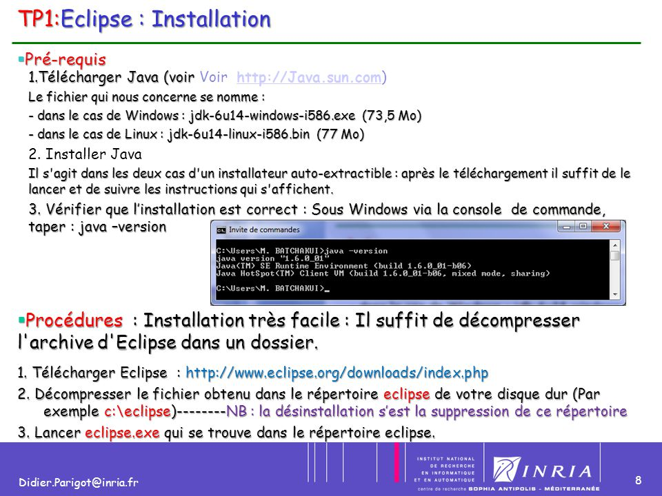TP1:Eclipse : Installation