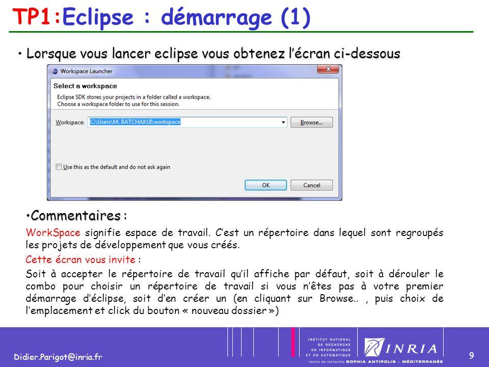 TP1:Eclipse : démarrage (1)