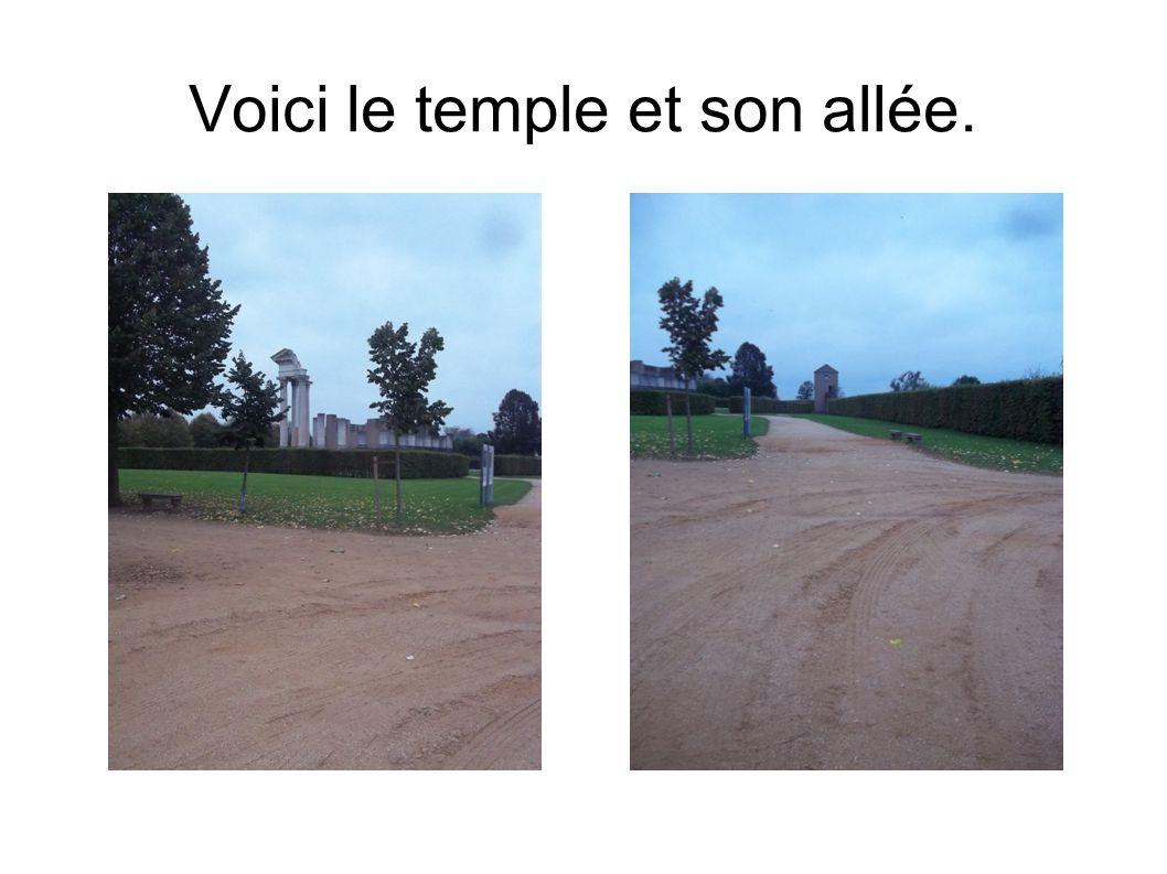 Voici le temple et son allée.