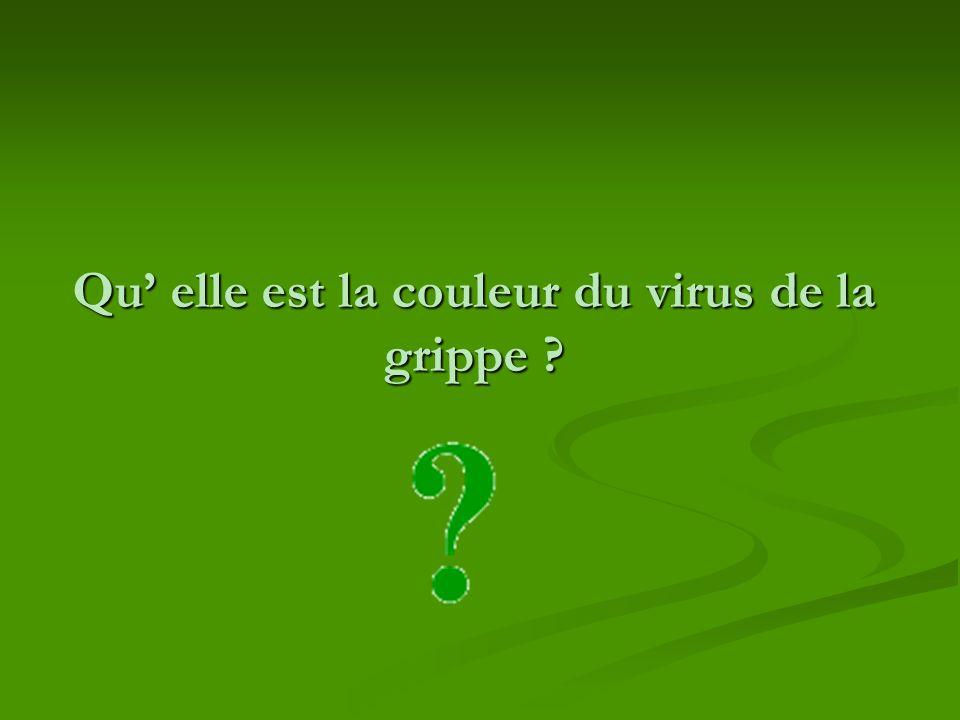 Qu' elle est la couleur du virus de la grippe