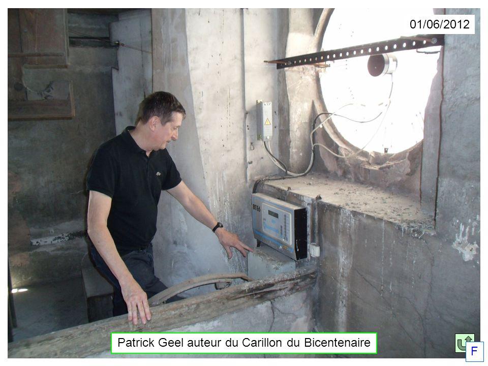 Patrick Geel auteur du Carillon du Bicentenaire