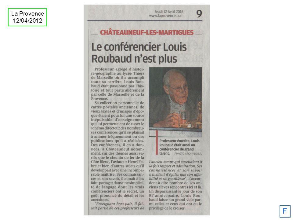 La Provence 12/04/2012 F