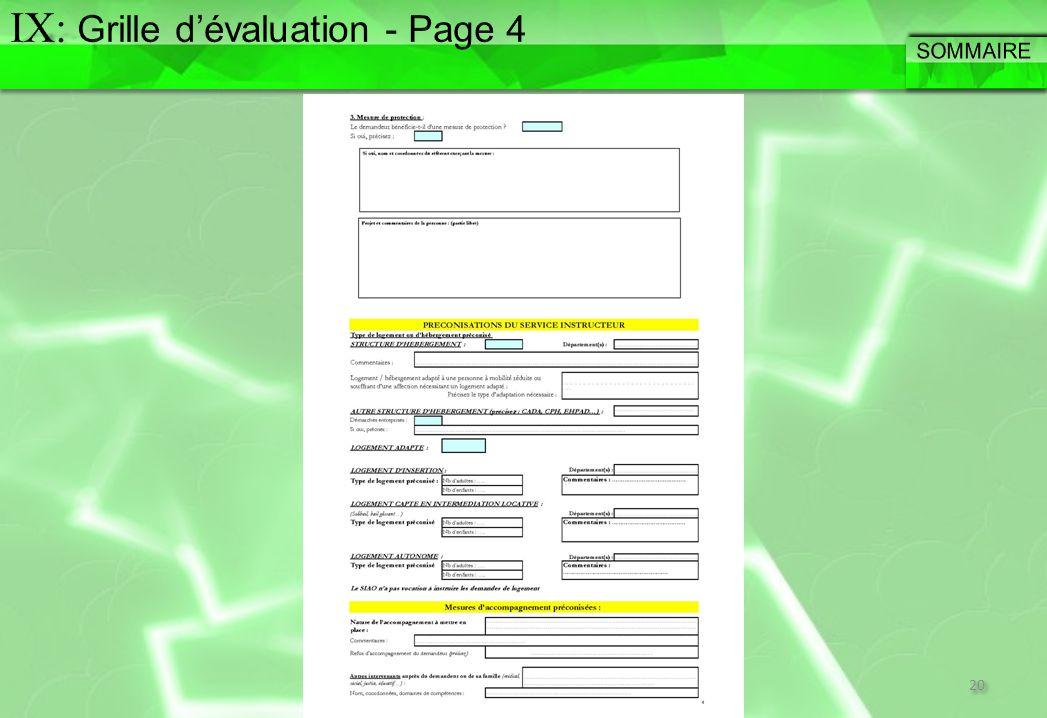 IX: Grille d'évaluation - Page 4