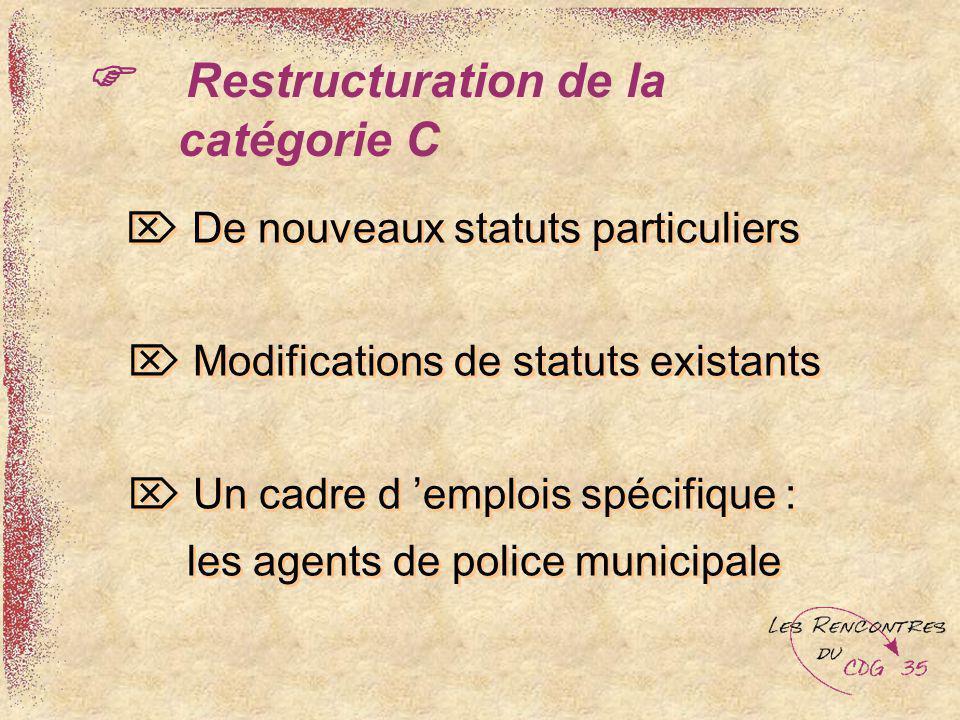  Restructuration de la catégorie C