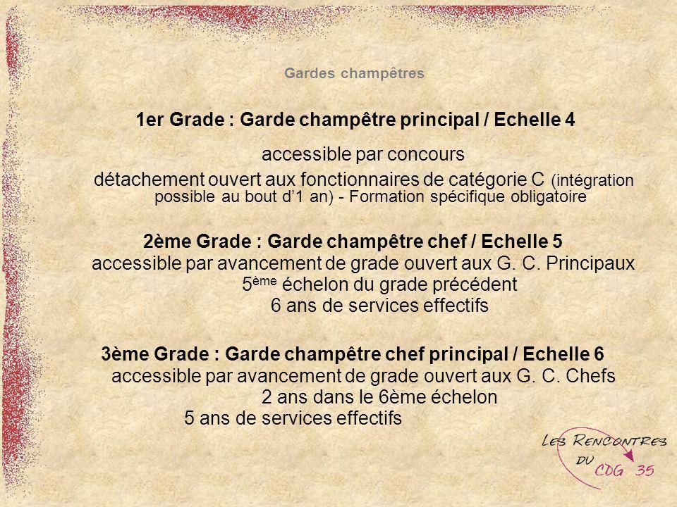 1er Grade : Garde champêtre principal / Echelle 4