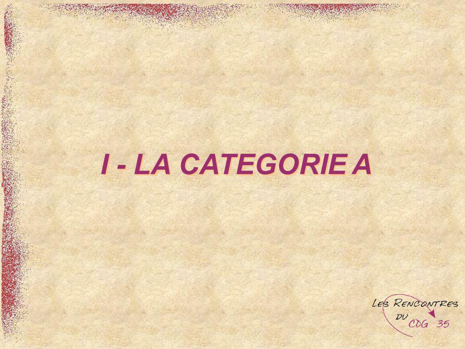 I - LA CATEGORIE A