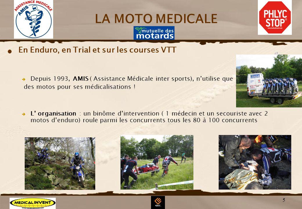 LA MOTO MEDICALE En Enduro, en Trial et sur les courses VTT