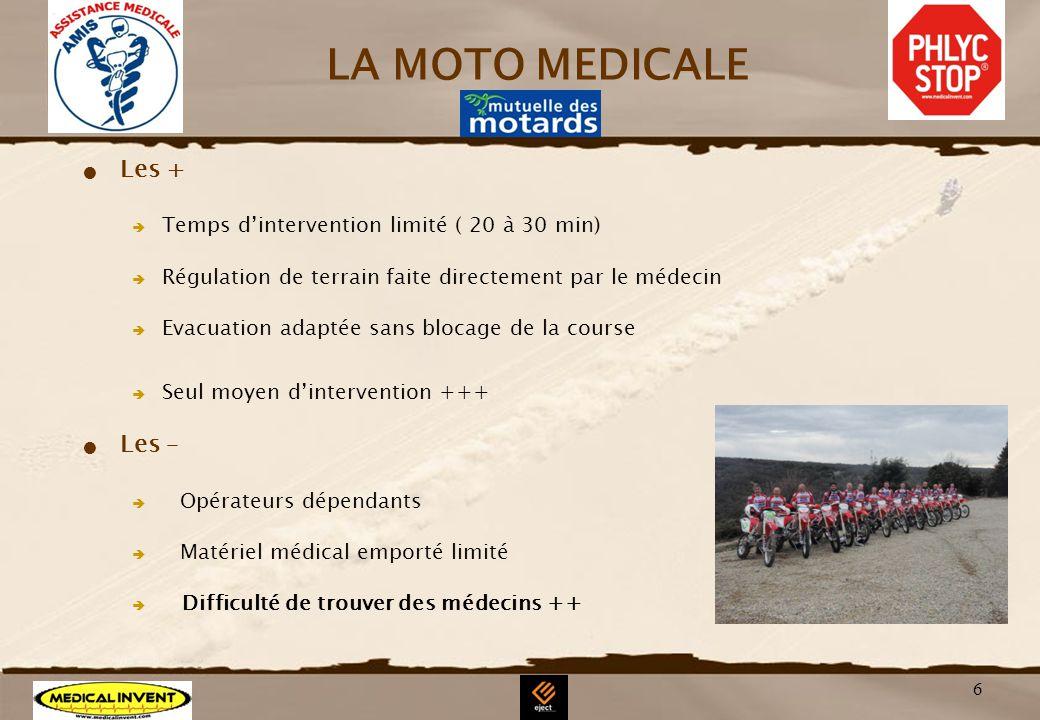 LA MOTO MEDICALE Les + Les –