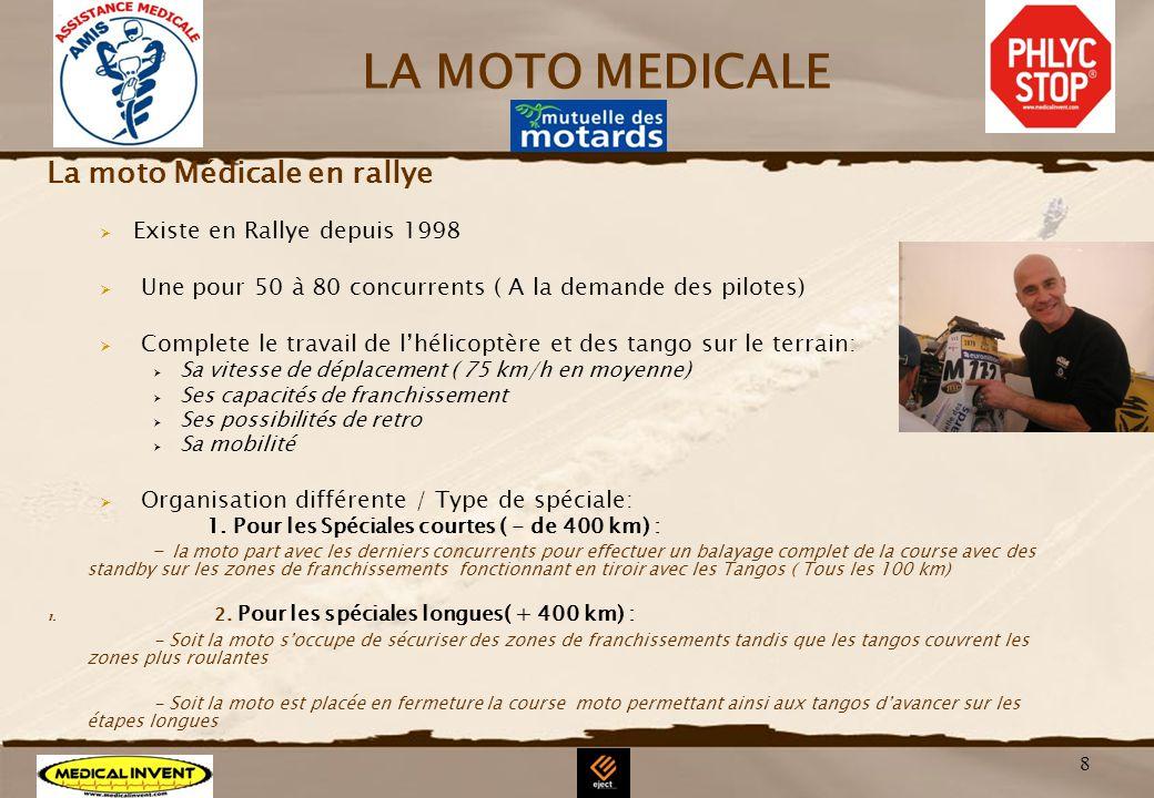 LA MOTO MEDICALE La moto Médicale en rallye