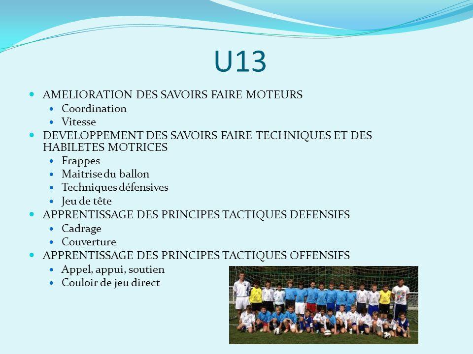 U13 AMELIORATION DES SAVOIRS FAIRE MOTEURS