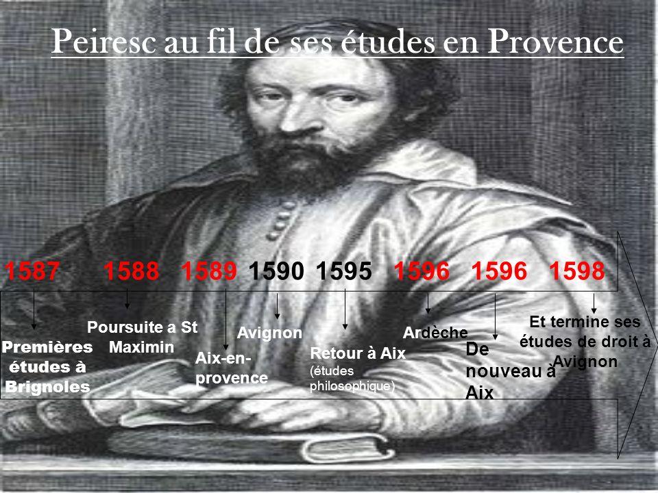 Peiresc au fil de ses études en Provence