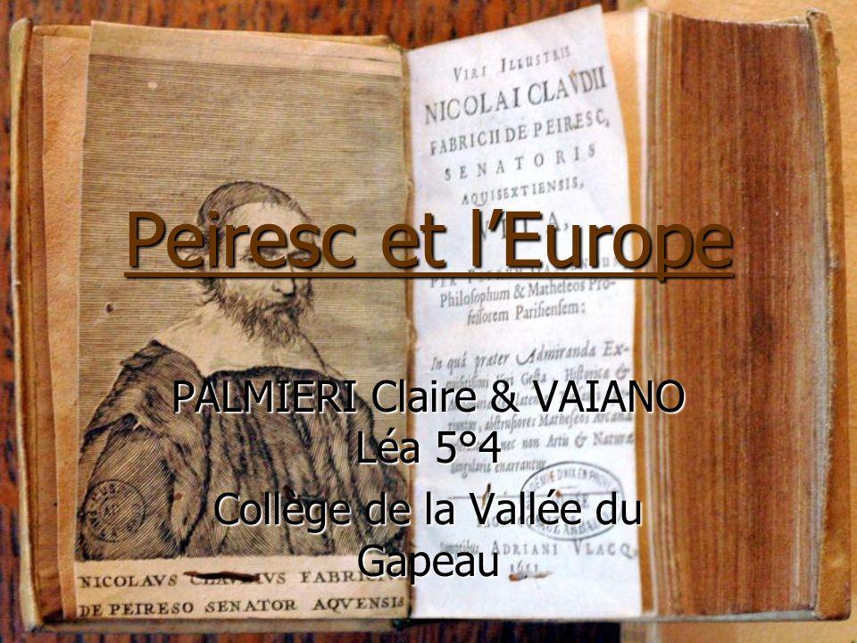 PALMIERI Claire & VAIANO Léa 5°4 Collège de la Vallée du Gapeau