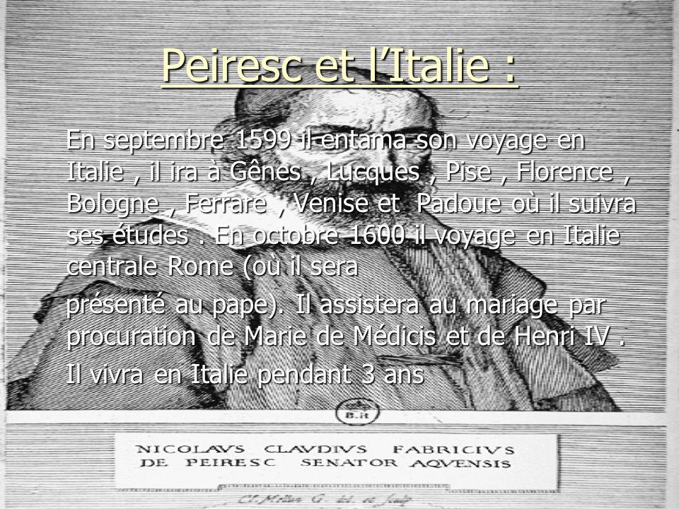 Peiresc et l'Italie :