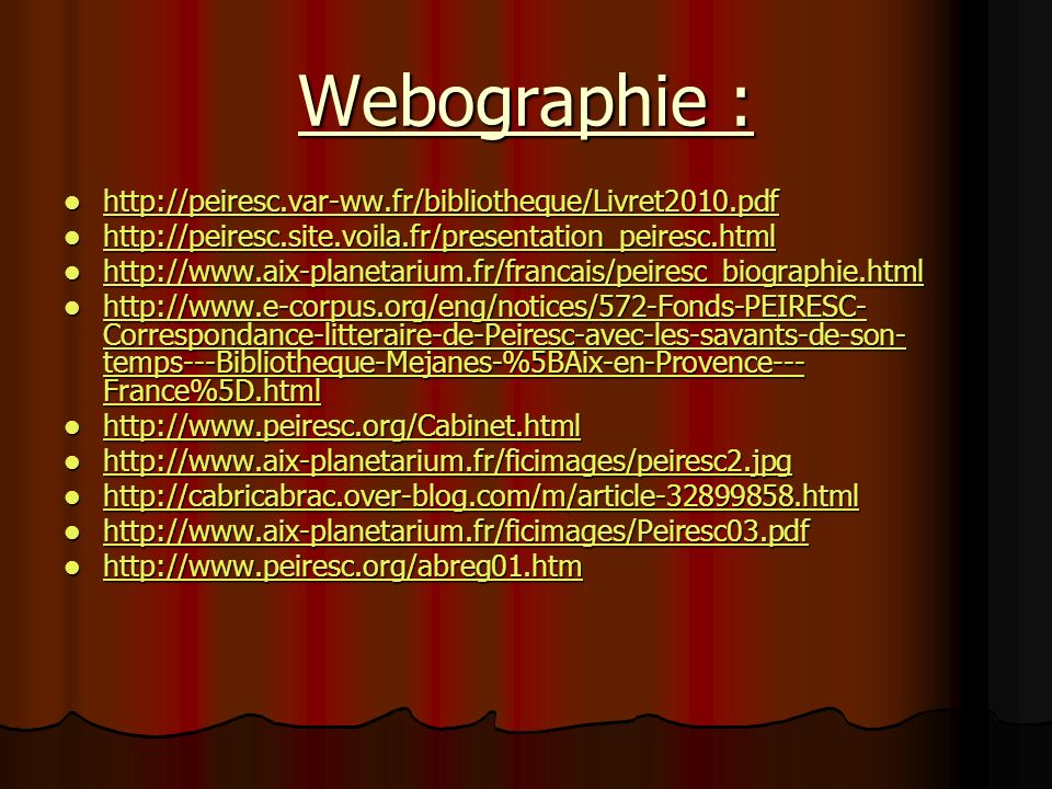 Webographie :