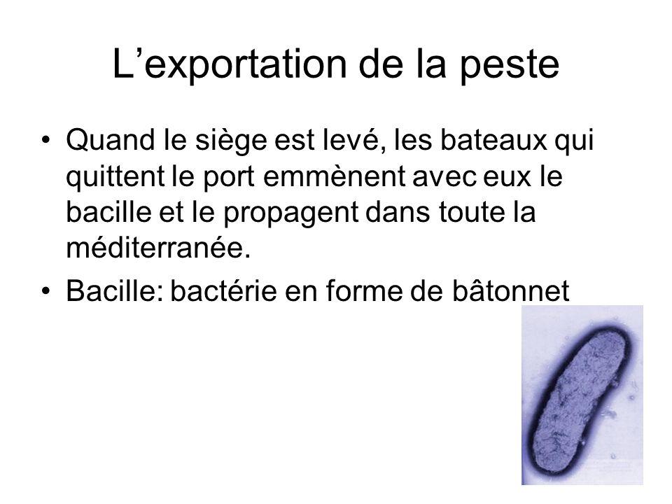L'exportation de la peste