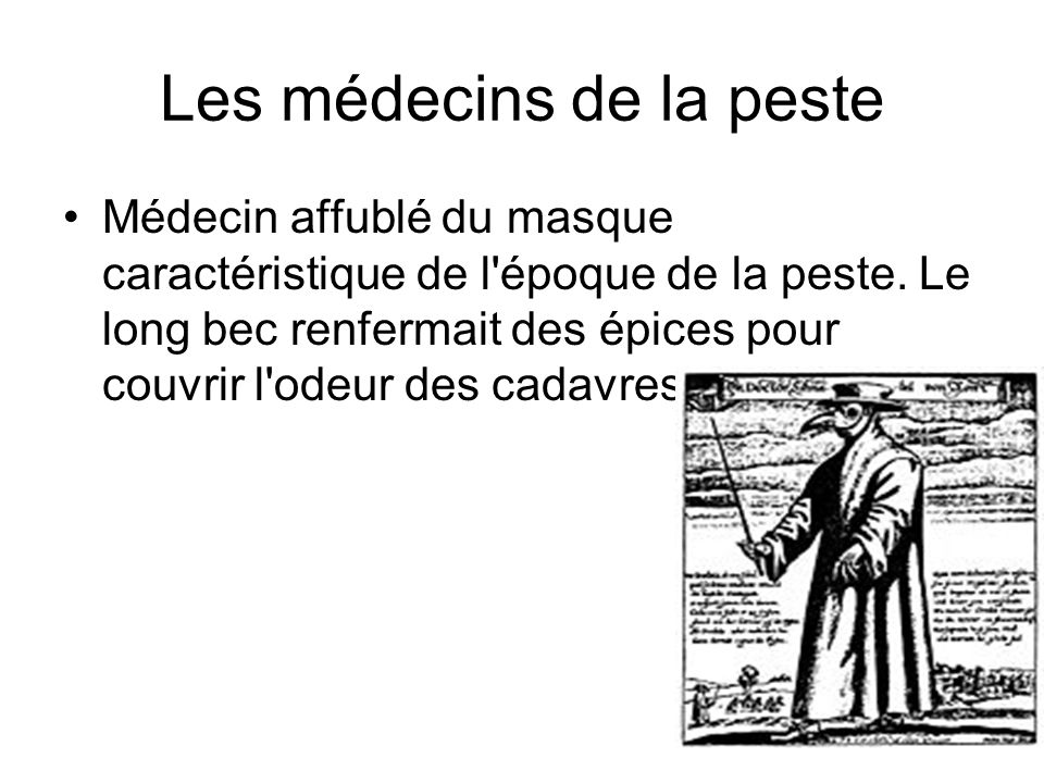 Les médecins de la peste