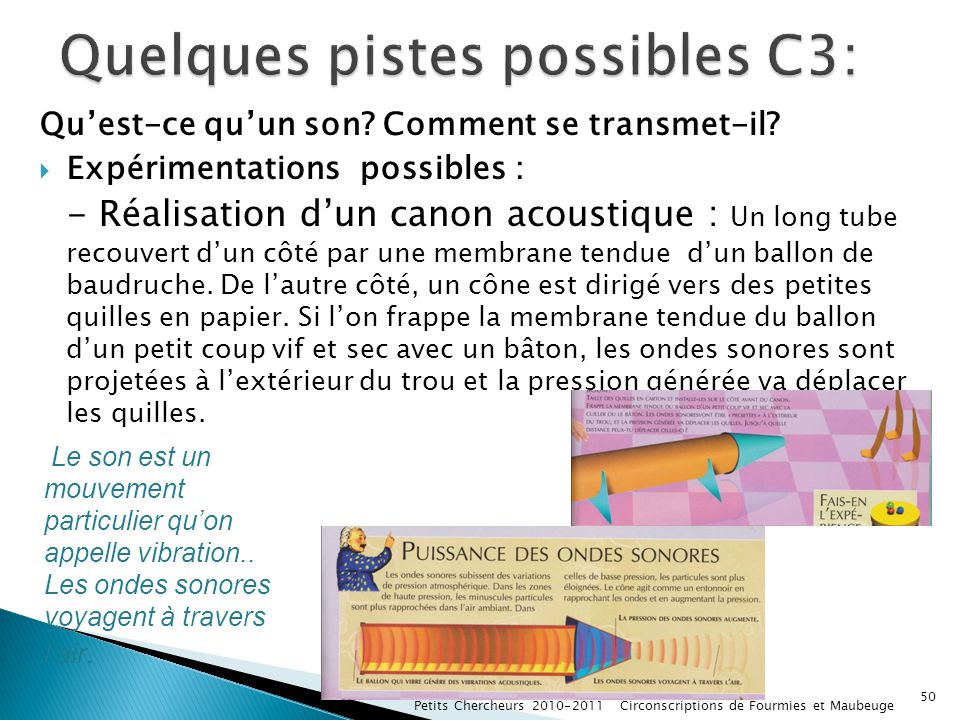 Quelques pistes possibles C3:
