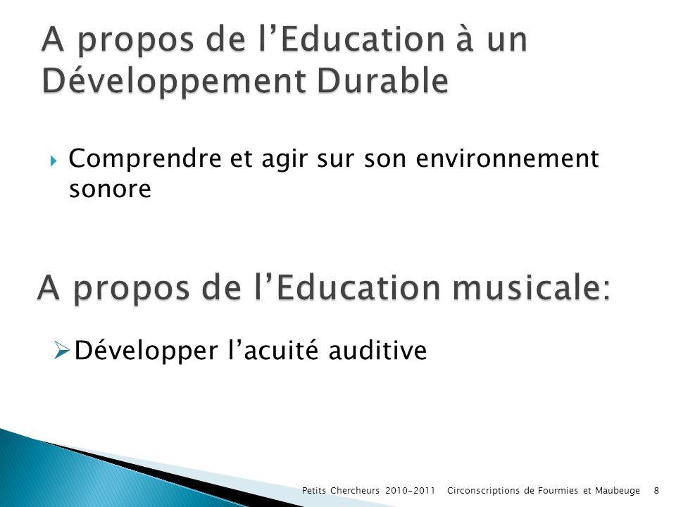 A propos de l'Education à un Développement Durable