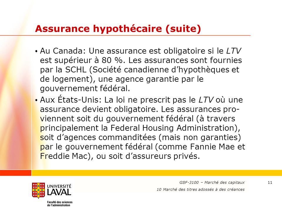Assurance hypothécaire (suite)