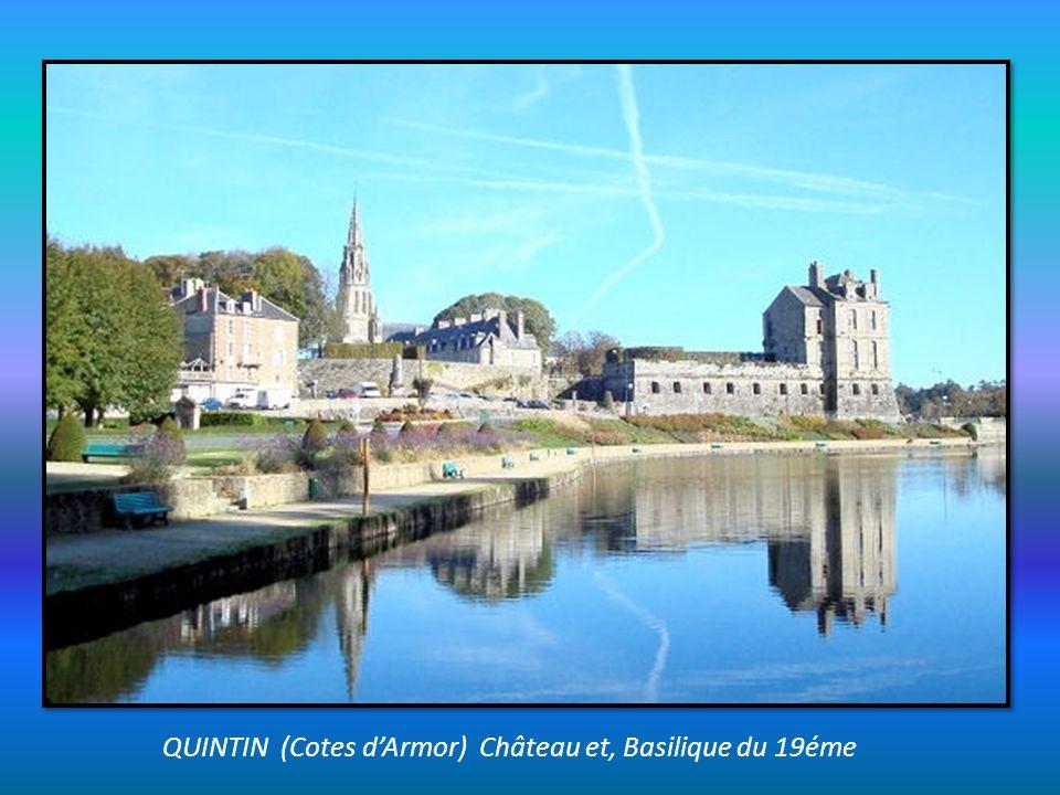 QUINTIN (Cotes d'Armor) Château et, Basilique du 19éme