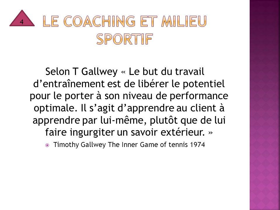 Le coaching et milieu sportif