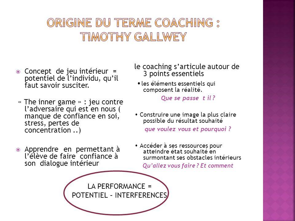 Origine du TERME Coaching : Timothy Gallwey