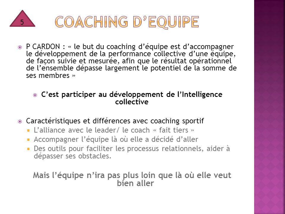 5 COAching d'EQUIPE.