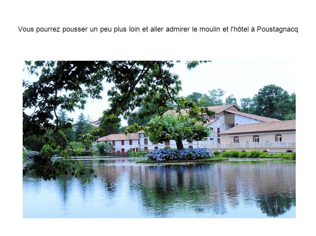 Vous pourrez pousser un peu plus loin et aller admirer le moulin et l hôtel à Poustagnacq